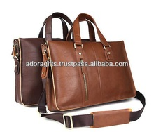 ADALLB - 0087 best travel laptop backpack bags / laptop bags 11.6 inch / laptop document bags in genuine leather