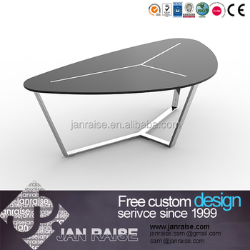 Modern Design Antique Glass Table, Cast Iron Coffee Table Legs