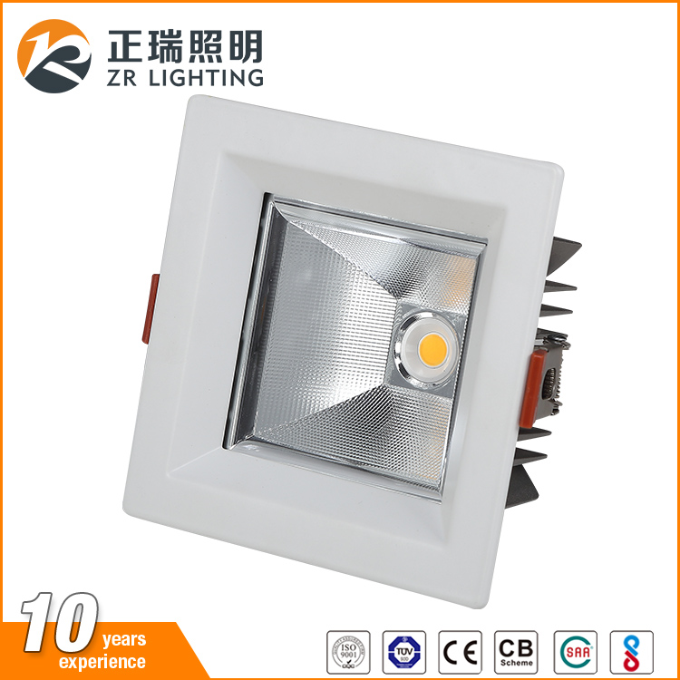 Commercial Lighting 12W 20W 35W high power square led recessed downlight