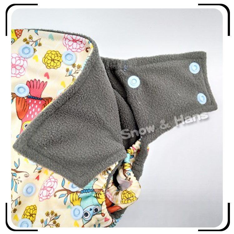 AIO Cloth Diapers One Size with Bamboo Charcoal Inner Material Organic Newborn Baby Cloth Diapers
