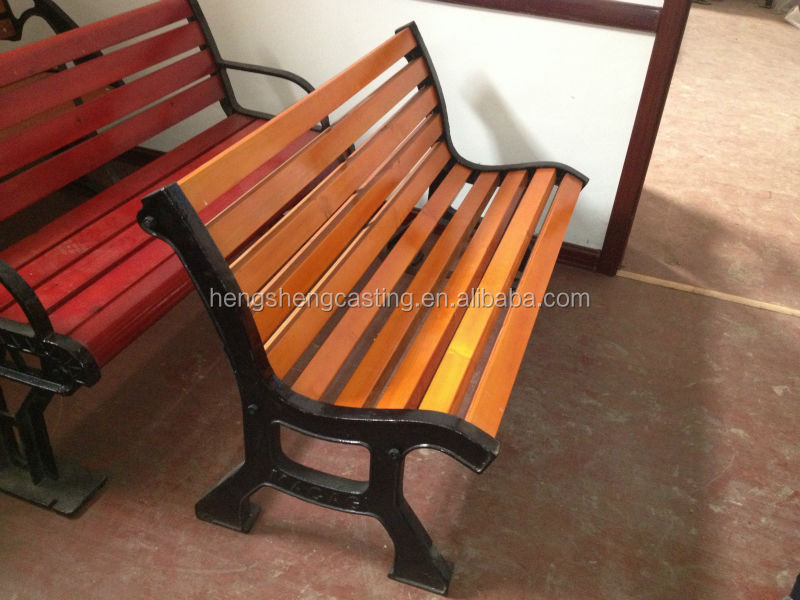 Hot New Product Garden Furniture Leg Extenders Metal Outdoor Bench Wooden Slats For
