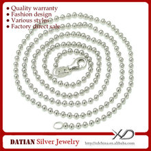 XD Y960 925 Sterling Silver 2mm Bead Chain Necklaces Designs Ball Chain Jewelry