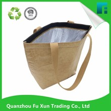 Custom recycle Eco-friendly waterproof tyvek tote cooler bag Insulated bag