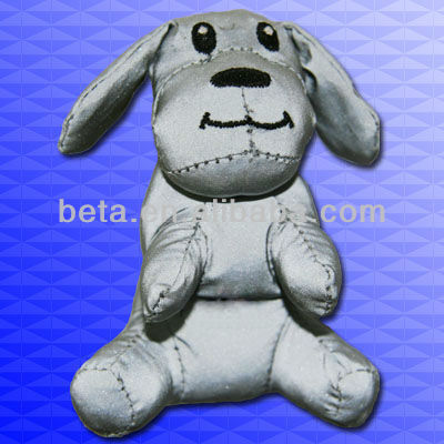 EN 13356 plush reflective toys /safe animal keychian for decoration