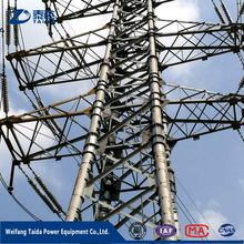 400KV Electric Power Transmission Line Self Supporting Lattice Tower