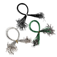 New Arrival 72PCS/lot Fishing Tackle Lure Trace Wire 15cm 23cm 30cm Length Anti-bite Green Fishing wire