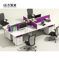 Customized best-selling wooden office table design with pvc edge banding