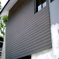 Cheap outdoor waterproof composite exterior wpc decorative wall siding