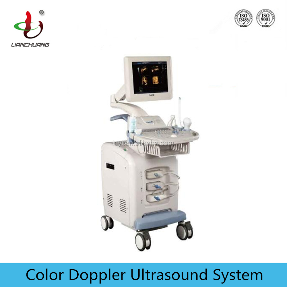 Trolley 4D Color Doppler Ultrasound Equipment with Phased Array Probe