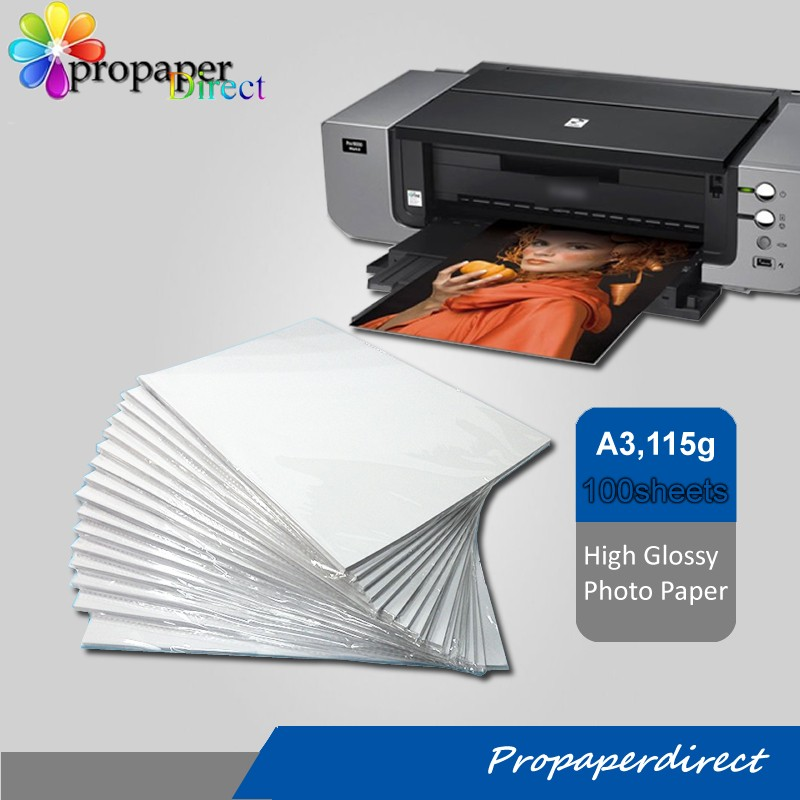 wholesales inkjet 110gsm a4 thin photo paper