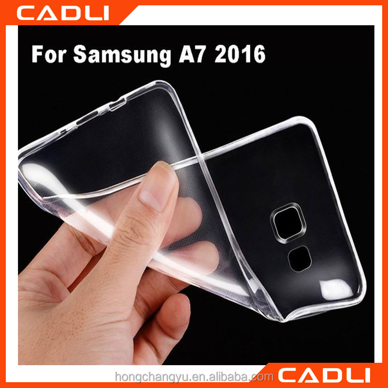 For 2016 New Samsung A7 Case Clear Soft TPU Gel Crystal Rubber Case Transparent Cover Skin phone case