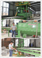 2015 China exclusive Patent marble stone surface pavers 8 wheel abrasive blasting polishing cleaning and paint machine