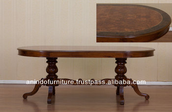 Mahogany Inlaid Oval Dining Table 180 from Indonesia