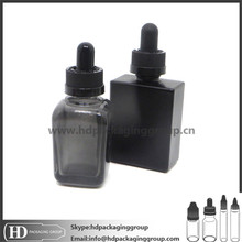 15ml 30ml matt black frosted glass dropper bottle for e liquid