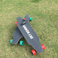 OEM carbon fiber twin-engine electric skateboard longboard, dual drive 1200W*2 electric longboard with wireless control