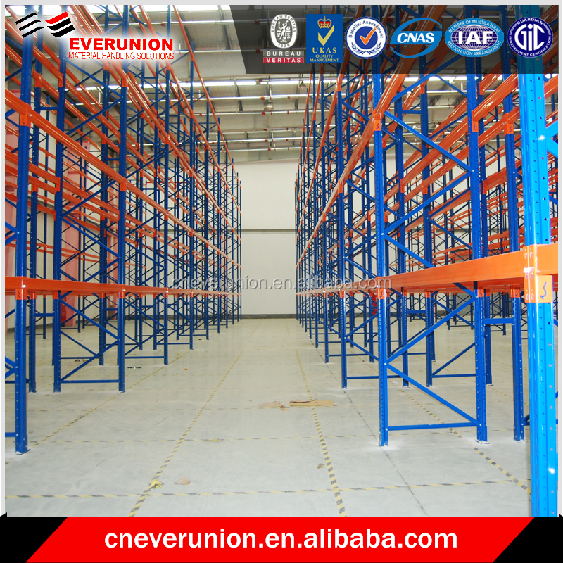 power coating finished united steel products pallet racks