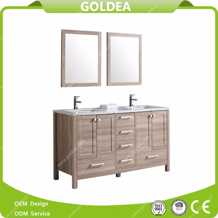 2016 high quality white vanities and sonoma oak bathroom cabinet