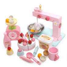 children toys new 2016 style mother garden toys Wooden cake making machine toy kitchen