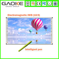IR Ultrasonic Interactive Smart Board 80 Inch Moveable Whiteboard with Wheels Narrow Frame China Education Supplier For Meeting
