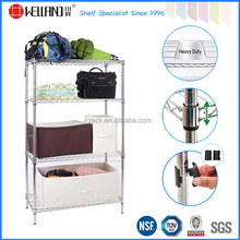 NSF Heavy Duty 4 Tiers Adjustable Household Chrome Steel Wire Shelf - Export to 50 Countries