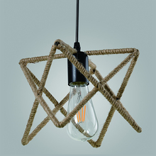 OEM European simple handmade hemp rope coffee restaurant bar pendant light