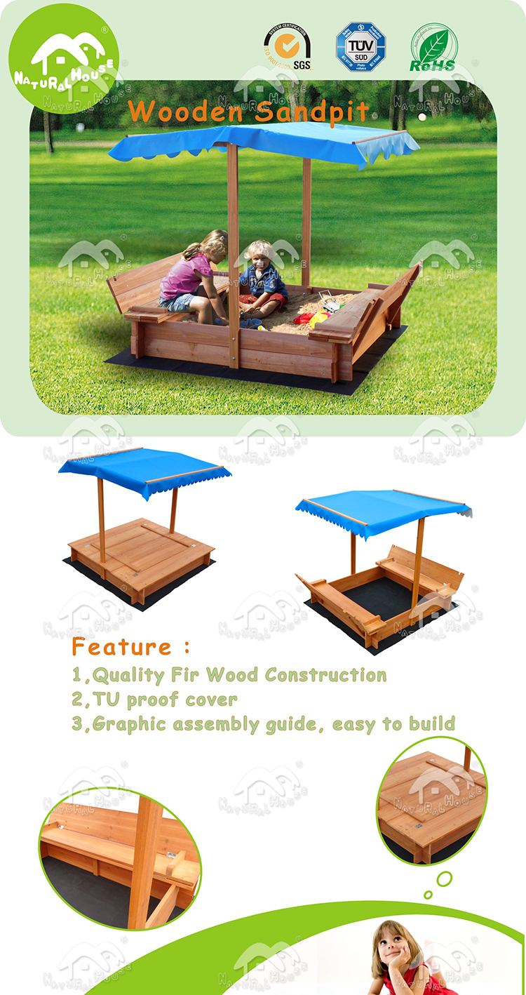 New best selling Wooden Sandpit,outdoor sandpit,kids sandpit