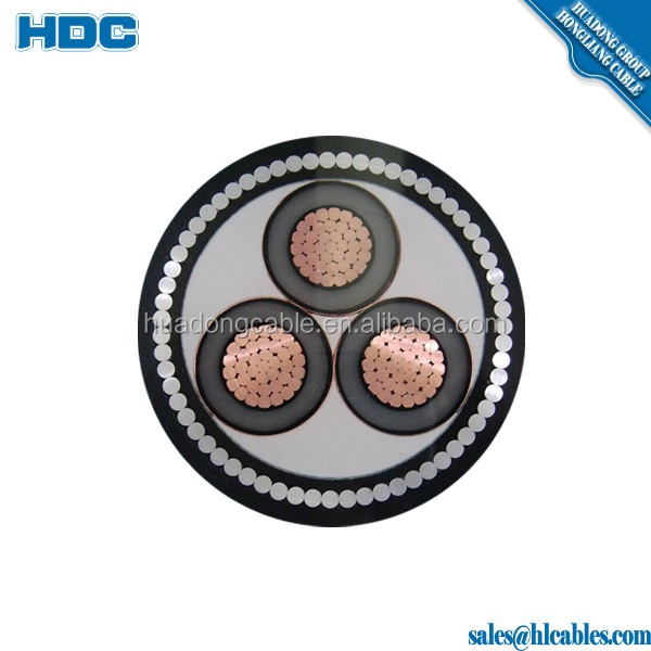 medium voltage direct buried cable 33kv XLPE insulation Copper aluminum conductor 300mm2 500mm2 power cable factory price