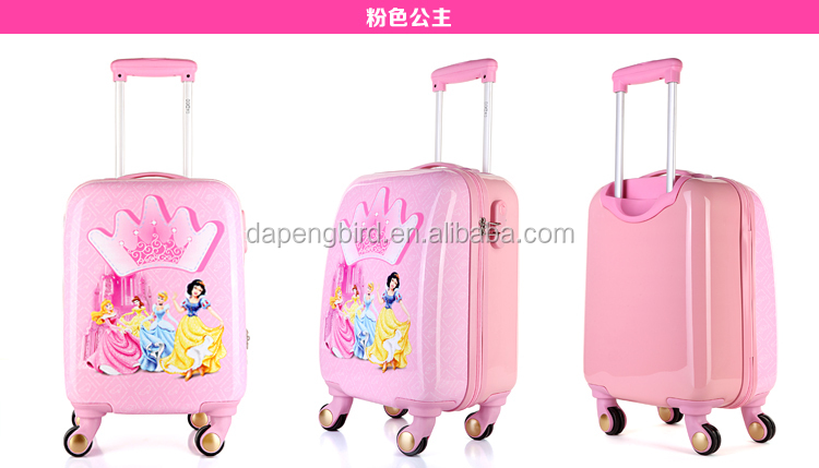 pc printed children travel trolley luggage bag