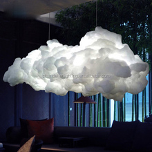 Postmodern cotton silk decorative art clouds floating fancy light with whosle price