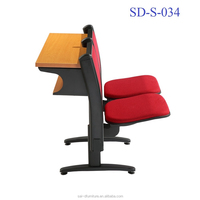 China School Furniture Cheap Folding College Step Students Study Table And Chair SD-S-034
