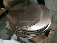 eching triply circle/3 ply circle/Aluminum+stainless steel cad circle for cookware