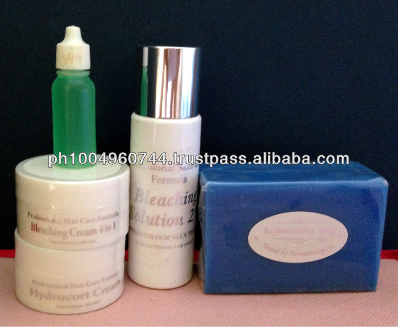 Professional Skin Care Scars Dark Spots Remover Whitening Set with Green Peeling Oil