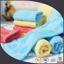 wholesale 50% cotton 50% pure bamboo fiber jacquard children face towel with apples