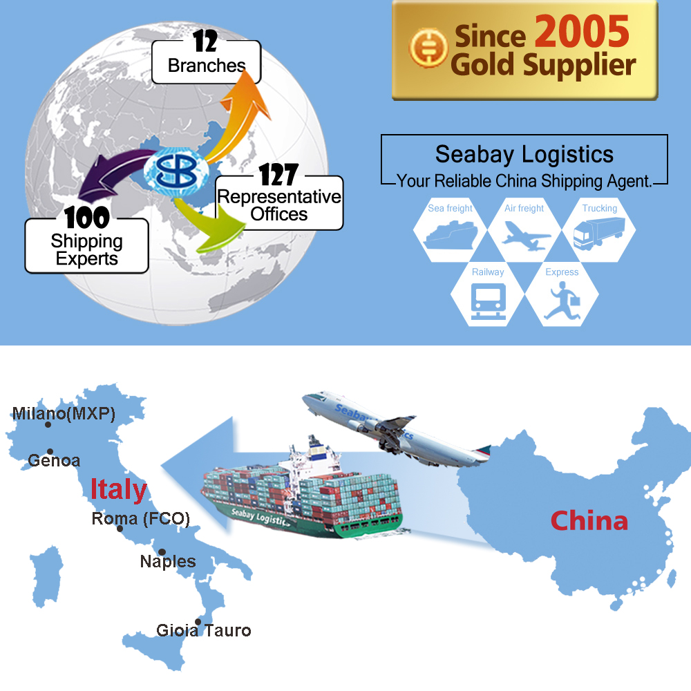 International freight forwarder logistics shipping company agent service from china shanghai shenzhen to italy