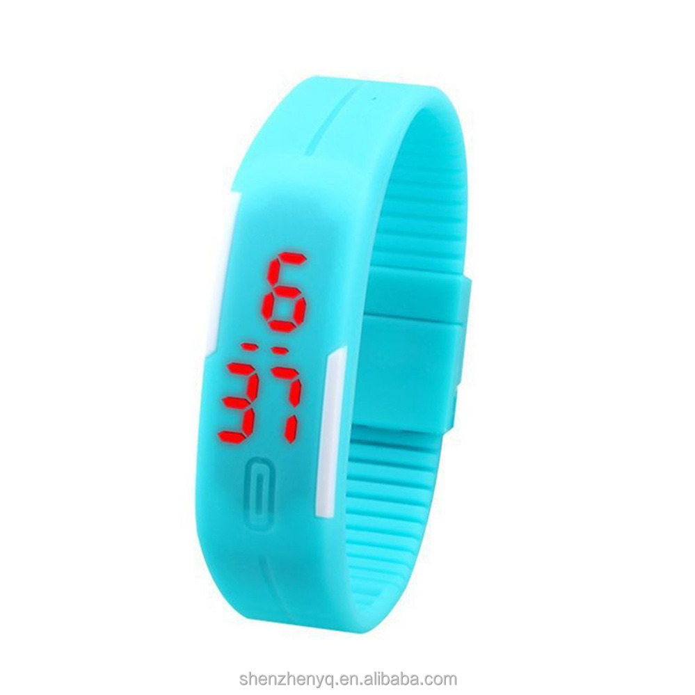 Chrismas gift custom silicone led watch sports watch Quality Assured Most Popular