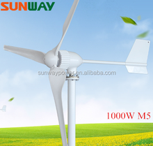 High quality horizontal axis wind turbine 1000W 3 blades 1000W horizontal axis wind generator