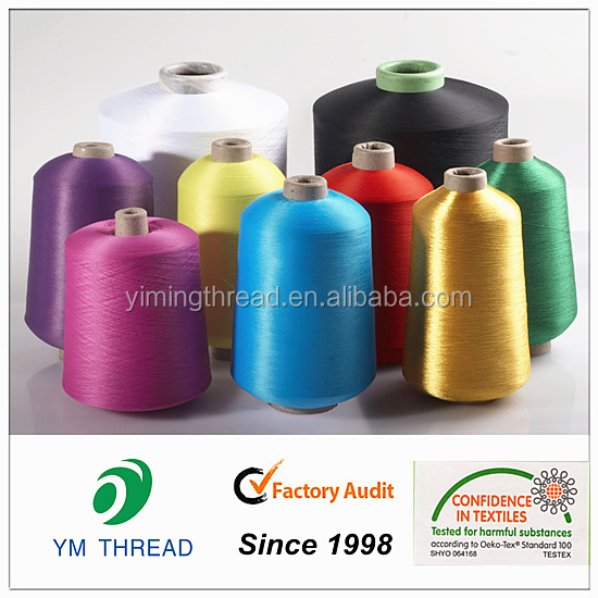 Produce Dyed 100 Denier Polyester Twisted faliment Yarn for Label Webbing