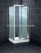 frosted glass folding small shower enclosure