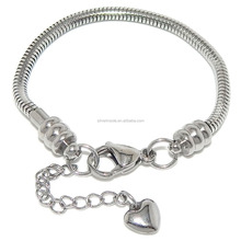 Stainless Steel Starter Charm Bracelet for Kids Fits Jewelry European Style Clasp