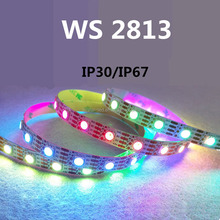 1m 30/60/72/144 LEDs DC5V WS2813 led strip 5050 RGB Individually addressable strip light dream color led pixel strip light