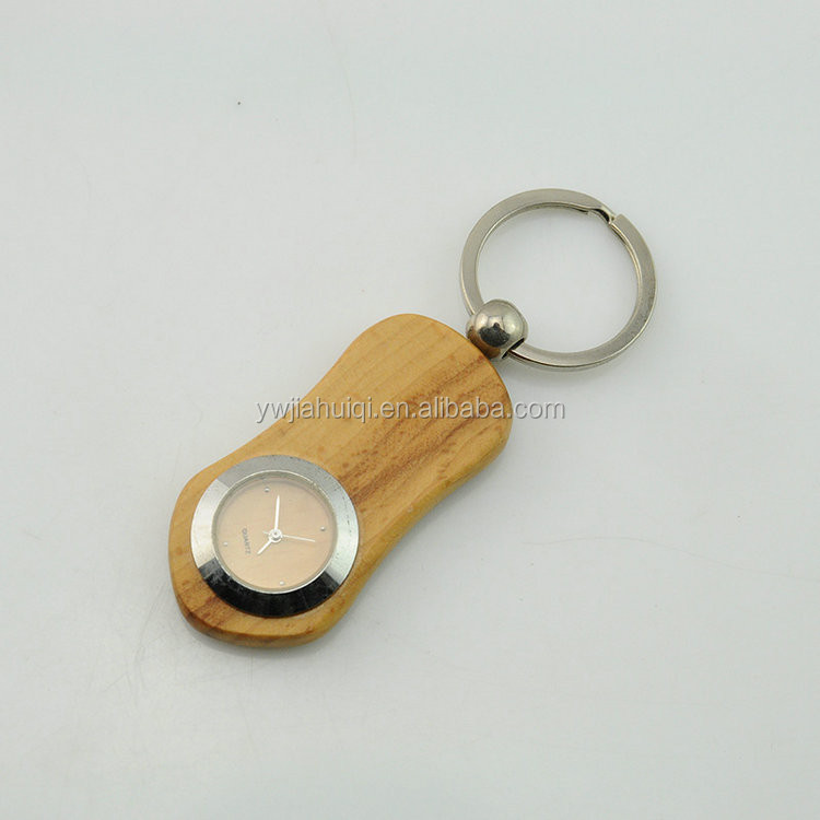 With compass cheap round custom wood keychain import china goods