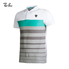 Stripe Short Sleeve Custom Sport Uniform Men Tshirt Cheap Polo Shirt For Man