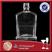 Food Grade Square Small Glass 50ml Whisky Bottle