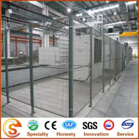 PVC Coated Expanded Metal Fence Panel/Warehouse Fence(Factory)