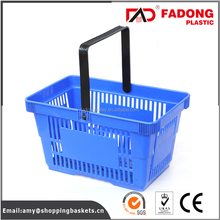 collapsible handle carry rectangular plastic shopping storage basket