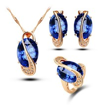 Top grade hot-sale zircon 18k gold plated jewelry sets