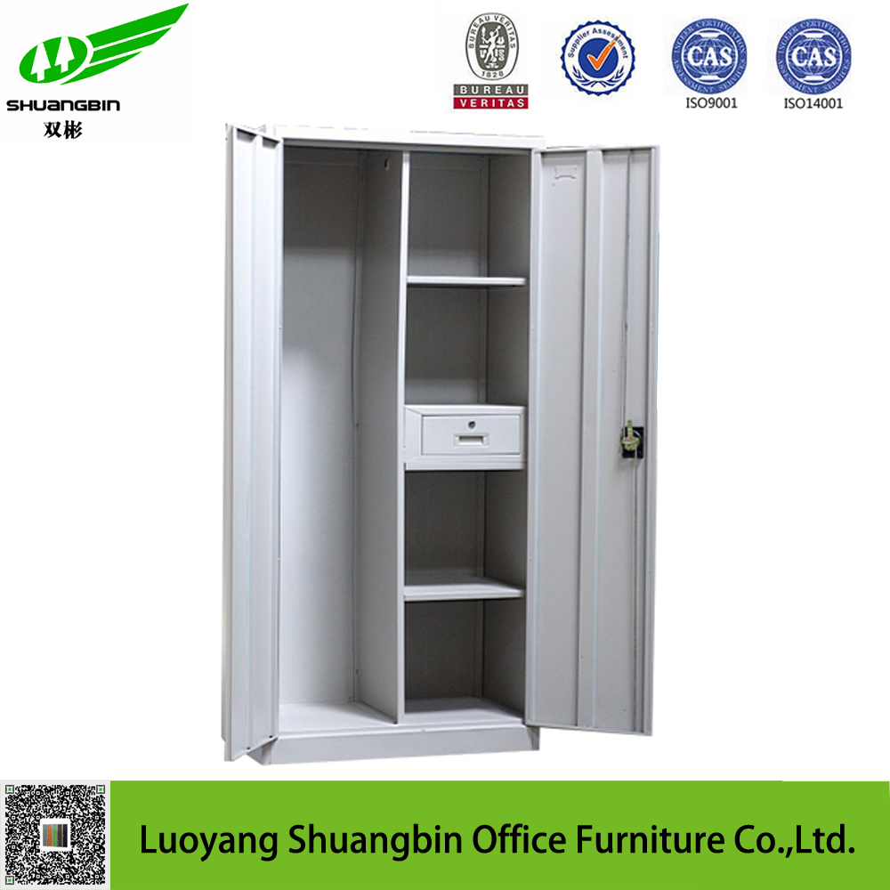 KD structure iron bedroom furniture almirah designs for clothes shoes