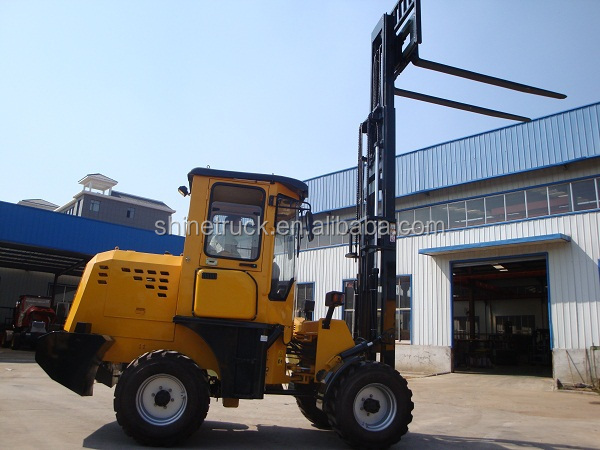 3500kg off-road rough terrain forklift price
