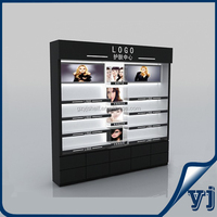 Cosmetics Glass Showcase/wooden display case,factory supply makeup watch counters and showcases,Retail Window Display