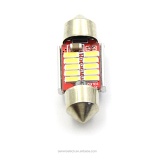 10PCS 31mm canbus 4014 SMD LED Car Interior Dome Light Lamp Festoon White Bulb Light Festoon LED